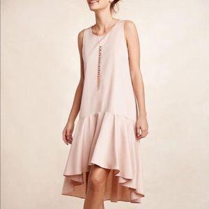 Anthropologie Maeve High Low - Light Pink Dress